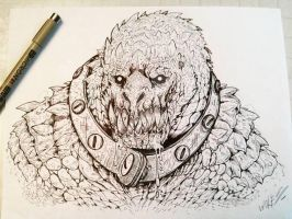 killer croc inked by TheWolfMaria