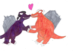 Lincoln and Ronnie Anne, Dinosaur love by Bry-Guy