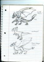 Dragon Academy dragon characters (really old) by Dinoboy134