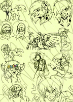 Doodle Dump (Art 2014-2015) by Sniperisawesome