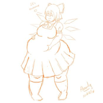 Fat Cirno by Anndygirl