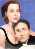 Mulder e Scully by LauraMel