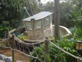 Typhoon Lagoon an old Boat by WDWParksGal-Stock