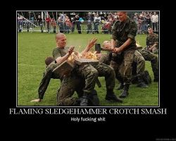 FLAMING SLEDGEHAMMER by crazyj117