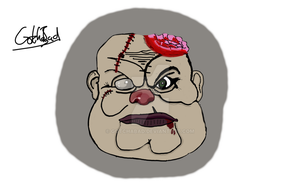 Digital painting of Pudge by Gotchabad