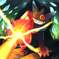 Mega Sableye Used Protect by Phatmon66