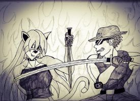 Sparring Siblings-Caboose vs. Kristina! by XPvtCabooseX
