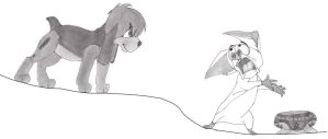 Bartok and pooka by alicesapphriehail