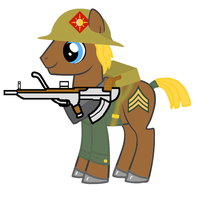 Soldier Pony by dalea1