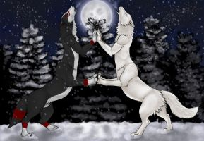 [COM] Winter howling by Kitsune-Nyx