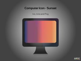 Computer Icon Sunset by guemor