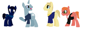 original story  character's ponyfied by art-is-my-bream