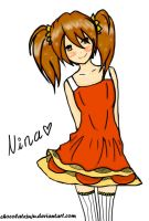 Nina OC GIFT Colour for Silver-moon123 by ChocolateJuju