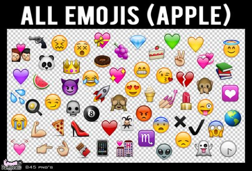 All-Emojis-Apple-Png-By-SA by shaffiqazman