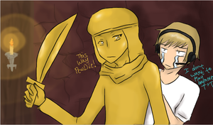 -PewDiePie and Stephano- This way Pewdie by Manhoes-And-Mangoes