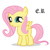 Young FlutterShy by EchosRenders