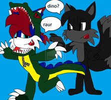 Jared and Icy the Wolf: Raur by RoninHunt0987
