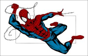 Spider-Man Line Art - Colored Version by Roach97