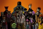 Zombies in color by Mecid