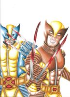 WOLVERINE AND DARK WOLVERINE.3 by SWAVE18