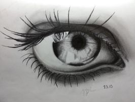 Pencil Drawing ~ Eye by ozastark