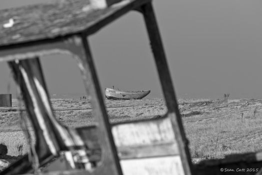 Abandoned fishing boats at Dungeness by SeanCatt