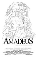 "Amadeus Poster ""Lines"" by Karbacca"