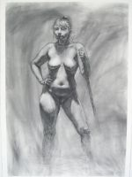 Life Drawing - Liz by stevicious