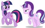 Two Purple Ponies by illumnious