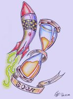 Hourglass and Missile by tattoo-parlour