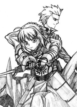 Saber x Archer by PeterPrime