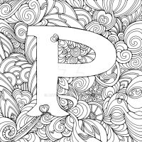 The letter P by Artwyrd