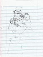 Master Chief WIP by imthinkinarby