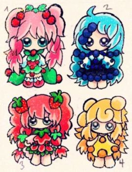 Fruit Chibis for Adopt closed by SweetAdoptParadies
