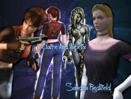 Claire and Alexia by SandraRedfield