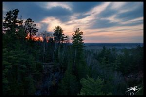 Sunset in Pattison State Park by Murphoto
