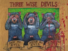 Three Wise Devils by Snake-Artist