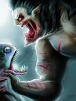 lagoon monster vs werewolf by clemper