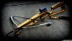 Demon-Hunter Crossbow in Brass amd Bone by JohnsonArms