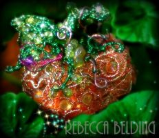 Wire Wrapped Pumpkin Ornament by RebeccaBelding