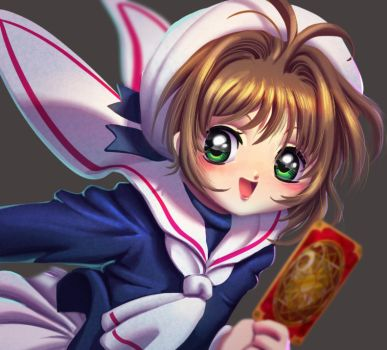 One face a day 122/365. Sakura card captors by Dylean