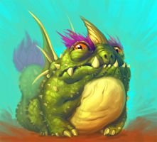 Cactus Dragon from Dragonvale by stutte