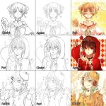 Switcharound meme with Chui and Ageha by Furihime