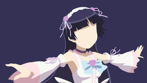 Kuroneko minimalistic wallpaper by Browniehooves
