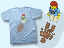 """Lego Dexter """"No Blood"""" Tee by the-lagz"""