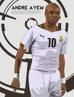 Andre Ayew Vector by bluezest1997