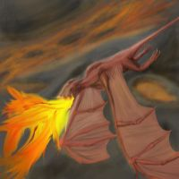 Flight of the Fire Drake by StormAndy