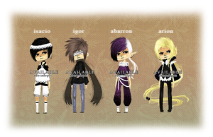 [23-26] misc adoptables 5 :: auction closed by Adoradopts