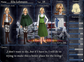 Introducing: Shingeki no Kyojin OC Ella Lehmann by SweetLittleVampire