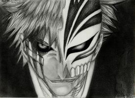 Bleach - Ichigo (1st stage of his Hollow Mask) by mangaslover